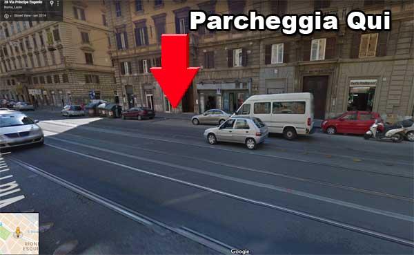 parcheggiare roma termini